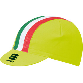 Sportful Italia Cap Yellow Fluo/Tricolore
